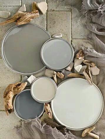 Rustieke kleuren verf grijs taupe # Paint darkgrey lightgrey