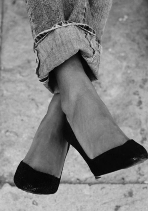 cuffed jeans + heels