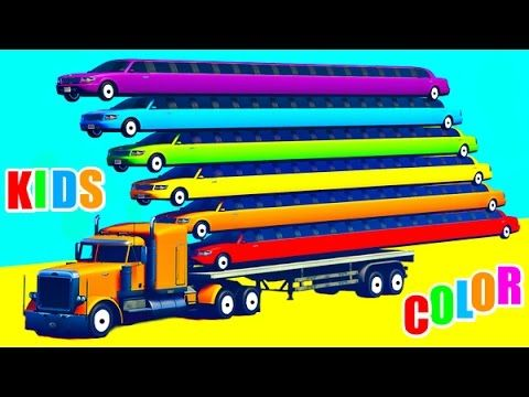 colors motorbike and cars for kids with spiderman cartoon learn colors learn numbers for