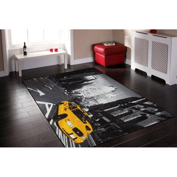 New York Streets Rug Size: 150 x 220cm