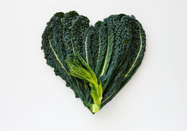 Heart-shaped kale