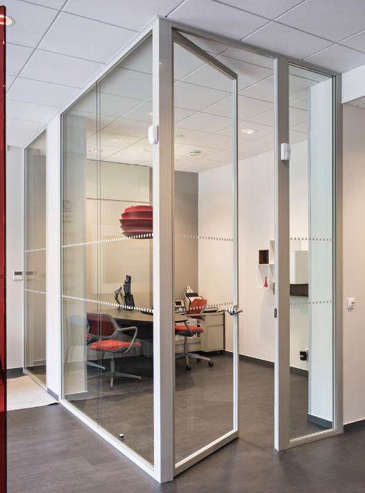 Parete amovibile / vetrata / ad uso professionale / senza montante verticale TRANSPARENCE H5 Hoyez PartitionSystems