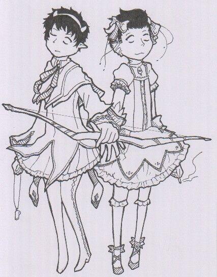 (( i am bored so i draw cronus and kankri being MADOKA MAGICAS.