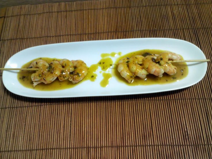Cocina Ruskina: Gambas con mostaza y miel