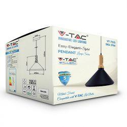 Φωτιστικό Οροφής Κρεμαστό μεταλλικό E27 BLACK VT-7535 V-TAC3800157611374
