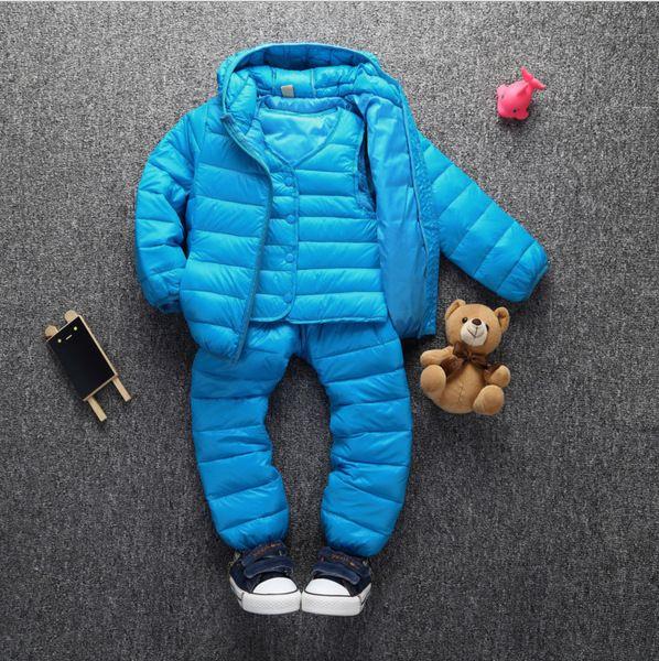Дети пальто теплое с капюшоном пуховик детей мальчиков и девочек двухсекционный костюм младенца младенца в шлифе