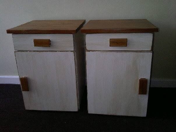 Solid Wood Bedside Tables in perfect condition, painted in antique white with shabby chic finish. Newly restored, antique, solid wood furniture. To view more items please visit my Facebook pages at: http://www.facebook.com/ArmstrongHomeDecor