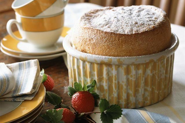 This vanilla souffle recipe features milk, vanilla, sugar and eggs. Vanilla dessert souffle.