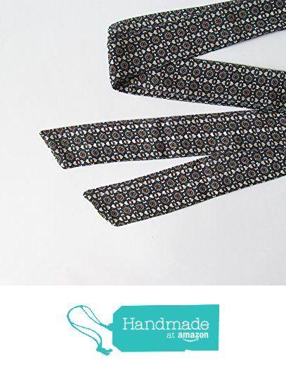 Navy Blue White Skinny Scarf, Floral Skinny Ties, Long Thin Scarf with Angled Ends, Chiffon Neck Tie Scarf, Headband, Fashion Accessories from NaryaBoutique https://www.amazon.com/dp/B01M9CCANA/ref=hnd_sw_r_pi_dp_cy.bybDYZ5WXS #handmadeatamazon