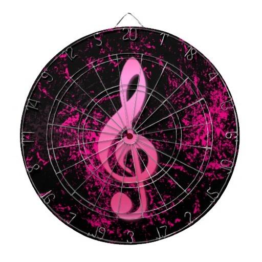 Dartboard do símbolo da nota da música jogo de dardo
