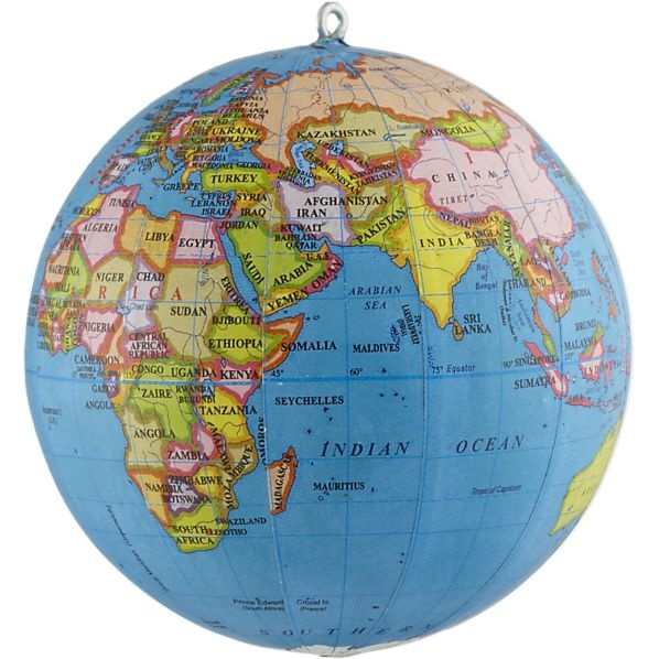 Super cute globe ornament from Crate & Barrel, $3.95: Shops