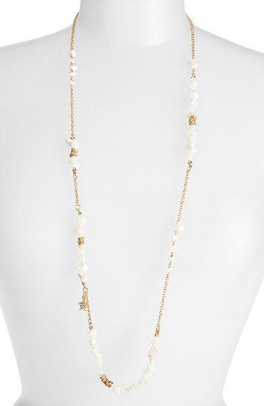 Длинные ожерелья из бисера блесток 'Цвет' Карма в белом | лизатора