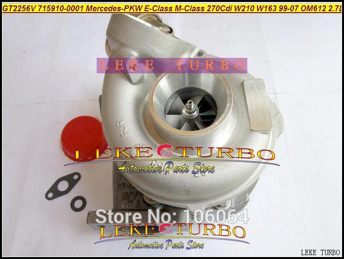 GT2256V 715910  715910-0002 715910-0001 A6120960599 Turbo For Mercedes PKW E-Class 270 CDI W210 M-Class W163 1999-07 OM612 2.7L