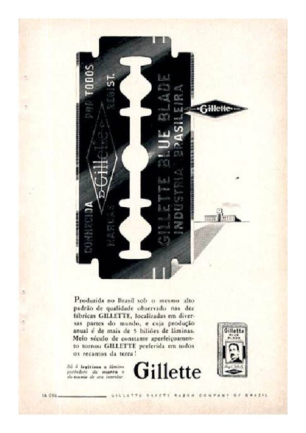 Vintage Gillette advertisement.