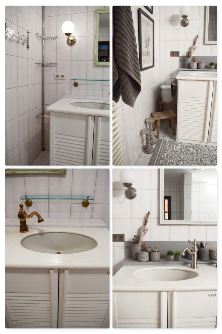DIY Verschönerung Bad. Mit kleinen Mitteln großes bewirken