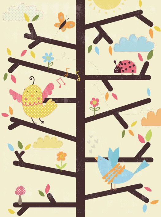 Birds in a tree, by Lisa Martin