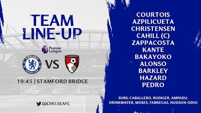 Live Stream: Chelsea Vs AFC Bournemouth EPL Match Day 25