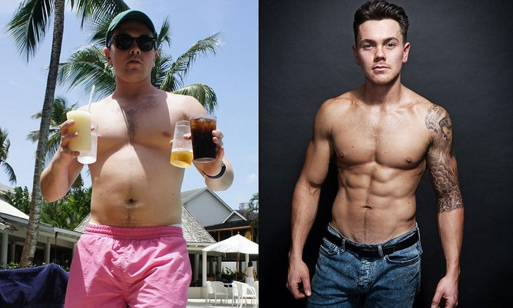 Super-ripped Ray Quinn loses two stone in two months through carb tapering Caveman diet and FIVE workouts a week