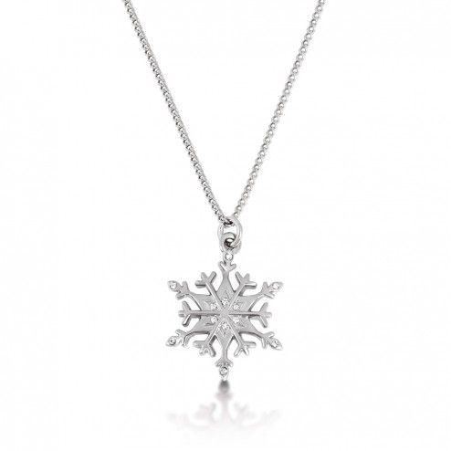 Disney Couture Frozen Snowflake Necklace at Aquaruby.com