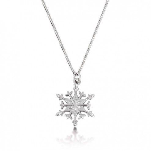 Disney Couture Frozen Snowflake Necklace at Aquaruby.com