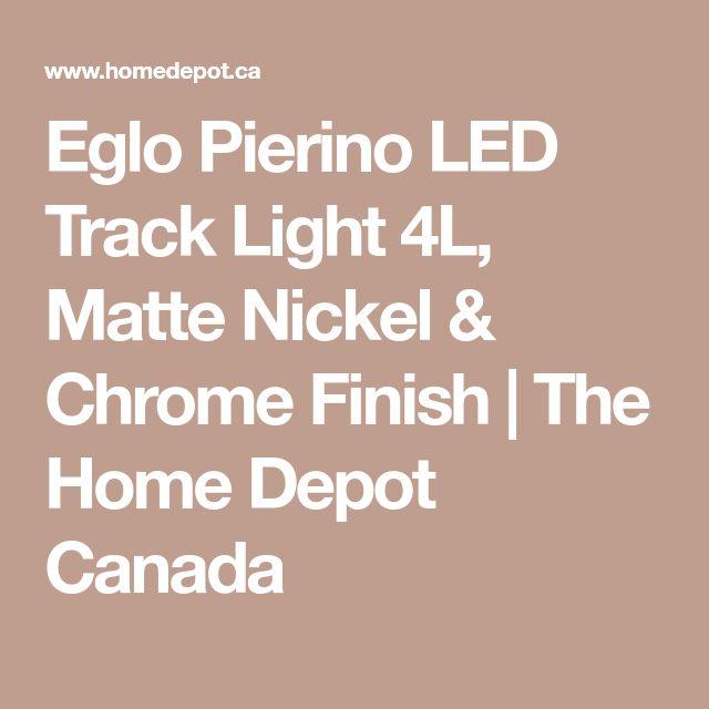 Eglo Pierino LED Track Light 4L Matte Nickel Chrome Finish