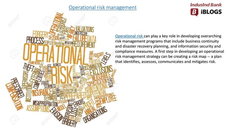 #Operationalriskmanagement should track, trace and manage all type of risks an organization must manage under operational risk.