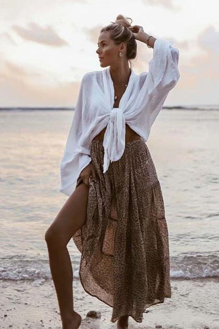 Boho Skirt, Maxi Skirt, Frankie Leopard
