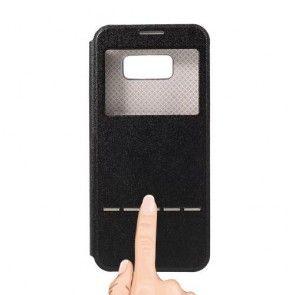 Husa Samsung Galaxy S8 Plus, Toto,ULTRASLIM, Negru/ Black, Fereastra