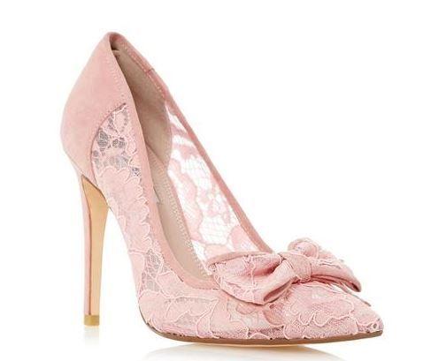 Dune 'Bodine' blush court shoes
