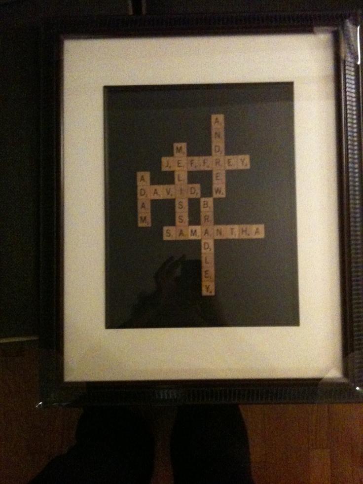 Christmas Gift Grandchildren Names In Scrabble Letters