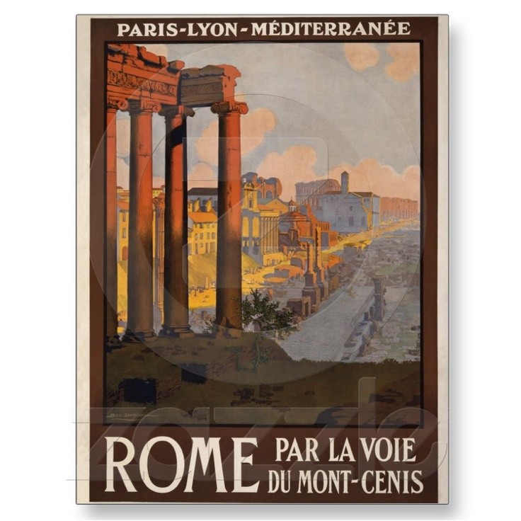 #Rome through the Mont-Cenis Post Card | Zazzle.co.uk