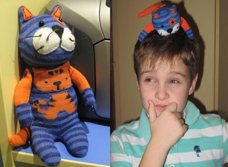 кот из носков и мой внук Гриша