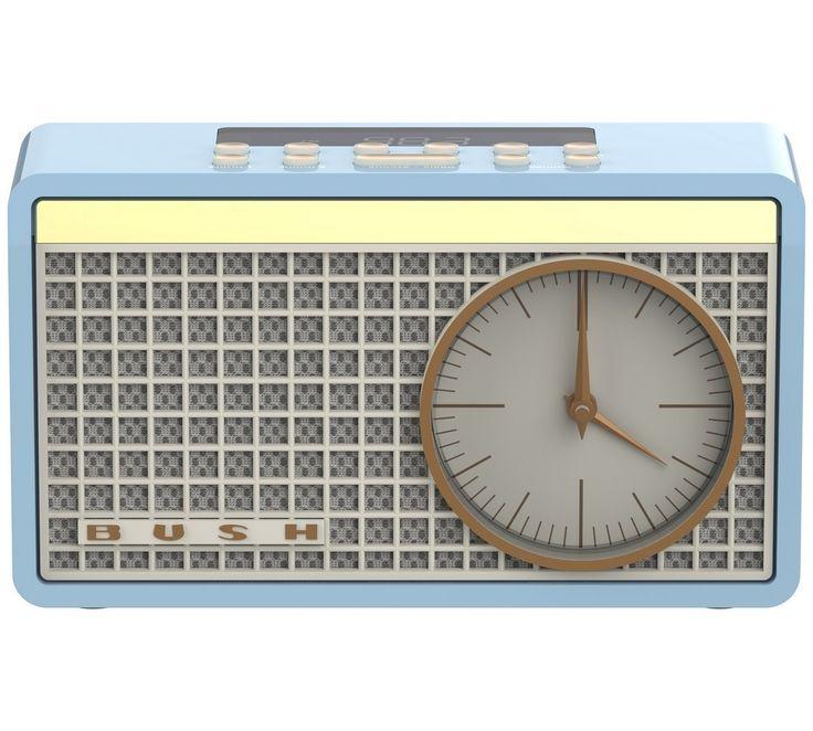 Bush Classic Retro Analogue Clock Radio - Blue: Amazon.co.uk: Electronics