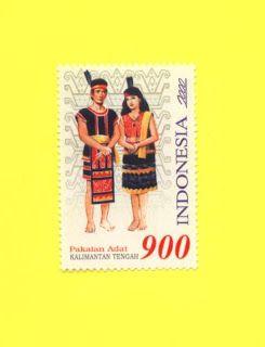 Indonesia Stamp - Indonesian Costumes Kalimantan Tengari