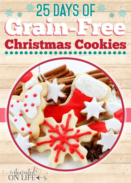 25 Days of Grain-Free Christmas Cookies is a series you will NOT want to miss. You might be grain free, but that doesn't mean you can't enjoy a wide array of delicious Christmas cookies! @ IntoxicatedOnLife.com