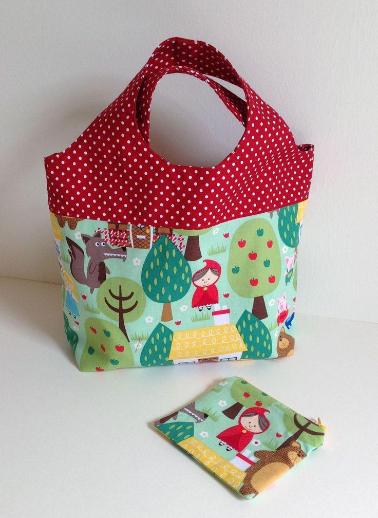 Inspiración para hacer un bolso de niña con monedero, sin patrón