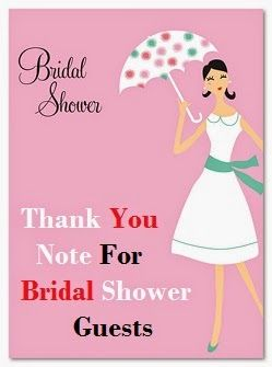 thank you notes for bridal shower