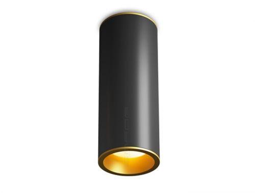 Потолочный светильник OSKAR в черном цвете с оригинальным золотым обрамлением