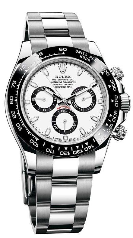 Rolex Cosmograph Daytona 116500 Blanco Dial Oyster de acero