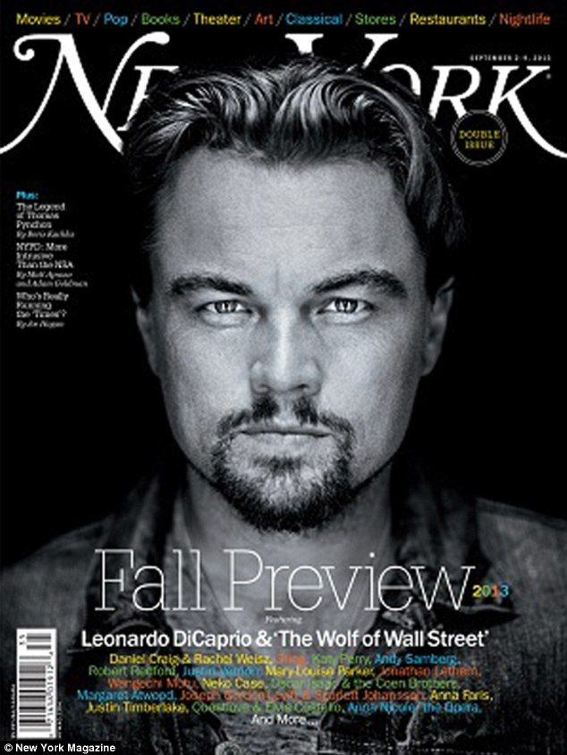 It's the height of debauchery': Leonardo Dicaprio smoulders on the cover of New York Magazine's latest issue as he opens up about his character in the film The Wolf Of Wall Street