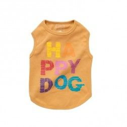 Camiseta Happy Dog Naranja Para Perro