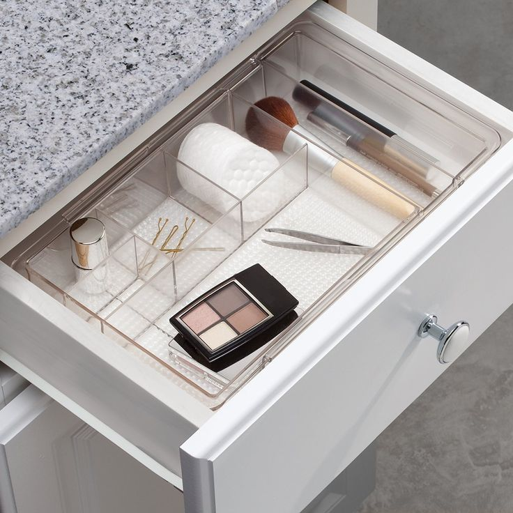 Use a bathroom drawer organizer tray to keep items in your drawers from  getting jumbled, and to speed up getting ready in the morning since you  won't be ...