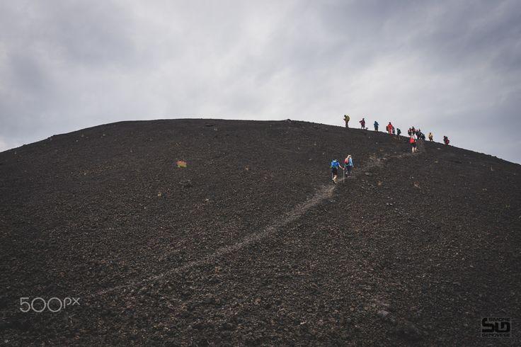 sulla cima - Sulla cima del Monte De Fiore - Etna