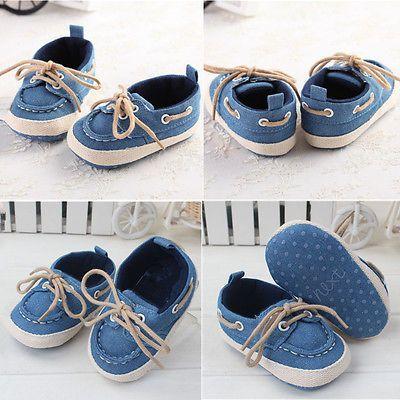 Chaussons Lacets Bébé Chaussures Souple Antidérapant Fille Garçon 0-18 Mois