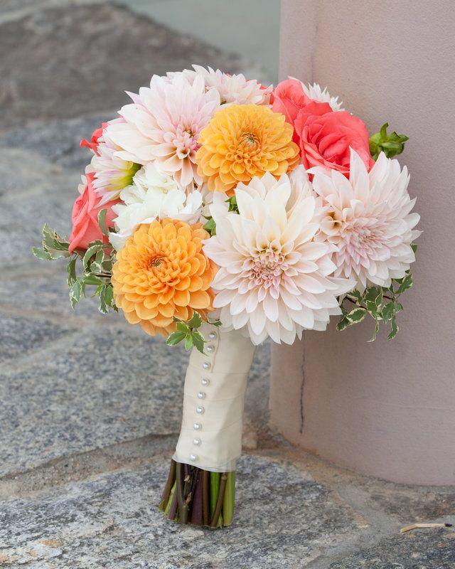 368 best Dahlia Bride Bouquets images on Pinterest Marriage