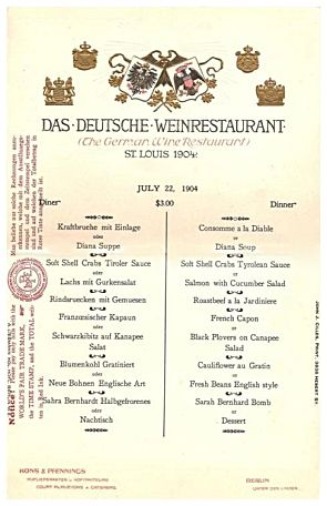 Worlds Away Restaurant St Louis Menu