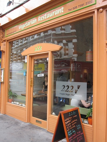 222 Veggie Vegan, London. Looks wonderful. http://www.222veggievegan.com/