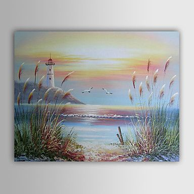 Hand-painted Landscape Oil Painting with Stretched Frame – AUD $ 90.08