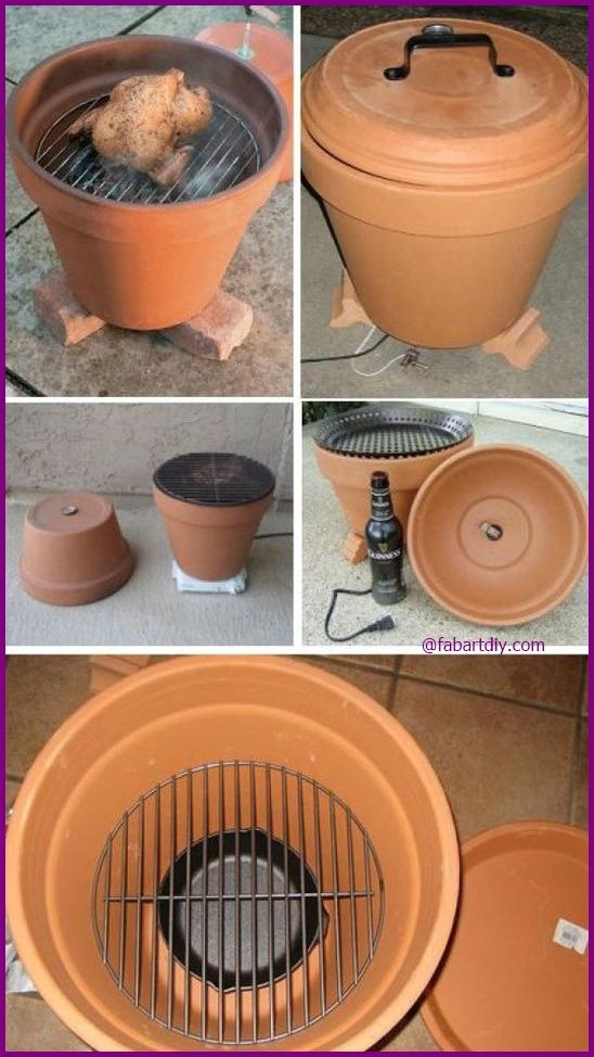 DIY How to Make Clay Pot Smoker Tutorial , Great Cooking Grill Ideas #diy, #outdoor, #smoker => http://www.fabartdiy.com/diy-how-to-make-clay-pot-smoker-tutorial/
