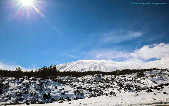 Snowy Mt. ETNA, kissed from the Sun...